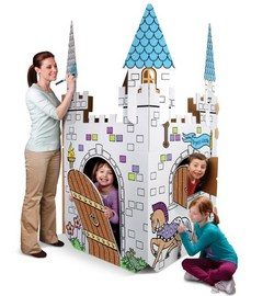 cardboard castle playhouse plans